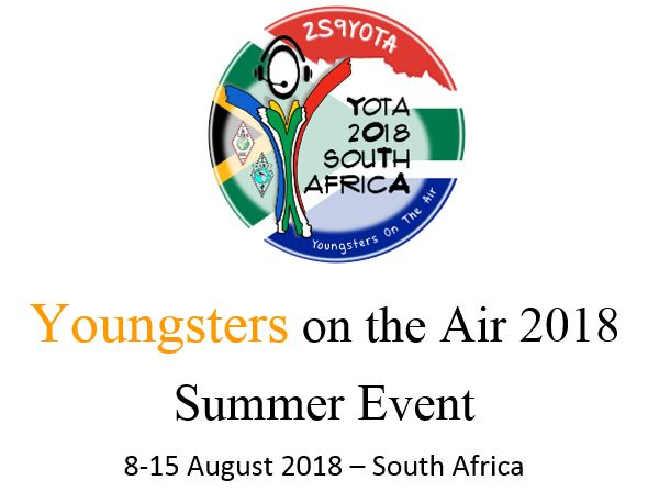 Youngsters on the Air - 8-15 August 2018 - South Africa